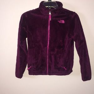 PURPLE NORTH FACE SWEATER